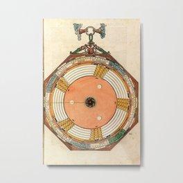 Peter Apian - Astronomicum Caesareum 1540 - Plate 33 Determination of the Dates of the Equinoxes Metal Print