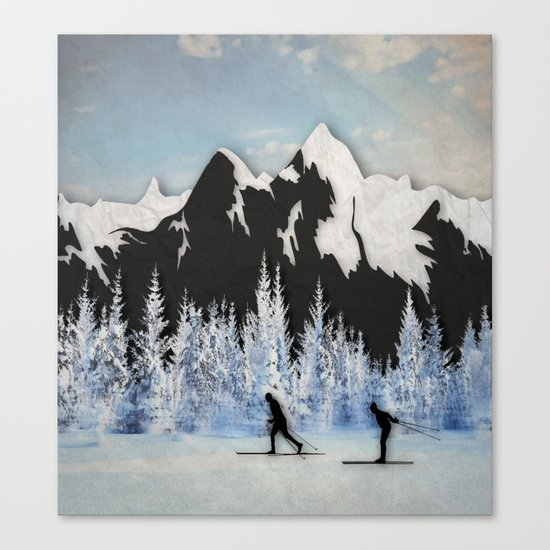 Cross Country Skiing Canvas Print