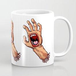 hand with mouth cartoon Coffee Mug