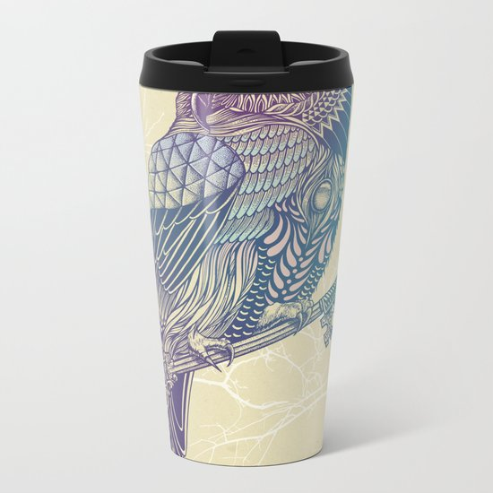 Owl King Color Metal Travel Mug