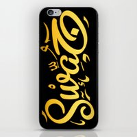 swag iPhone & iPod Skins featuring SWAG by Mikhaa