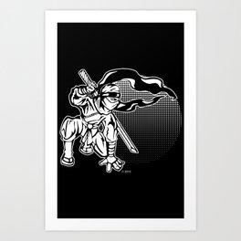 Ninja In The Sunset Art Print