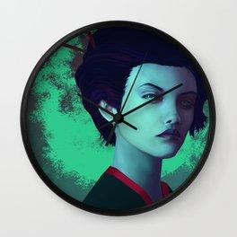 Moon Girl Wall Clock