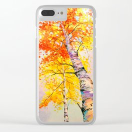 Heavenly birch Clear iPhone Case