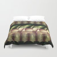 theater Duvet Covers featuring In the Theater  by Truly Juel