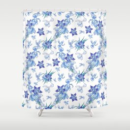 Purity of blue orchids - chic decor Shower Curtain