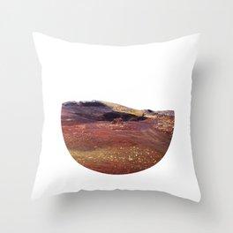 Rainbow rocks, Iceland Throw Pillow