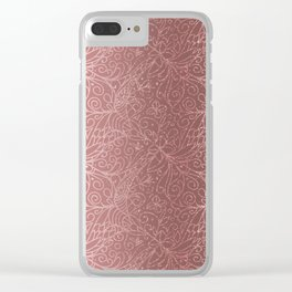 Rose Gold Floral Garden Clear iPhone Case