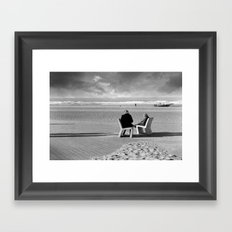 Wait and Sea Framed Art Print