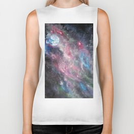 Space and the Moon Biker Tank