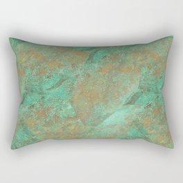 Verdigris Patched Texture Rectangular Pillow