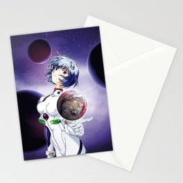 Ayanami Rei - Red Sea edit. Stationery Cards