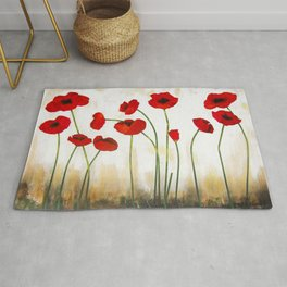 Skyline Poppies Rug