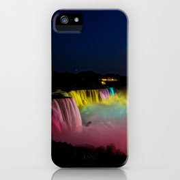 Niagara Falls Illumination Green iPhone Case