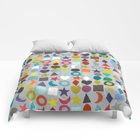 geo garland silver Comforters