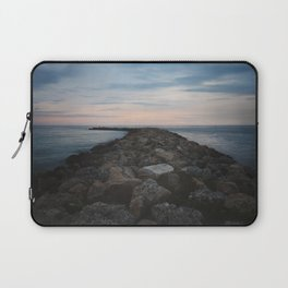 The Jetty at Sunset - Vertical Laptop Sleeve