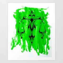 Libra Green Art Print