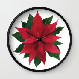 Christmas flower - Poinsettia Wall Clock