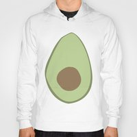 avocado Hoodies featuring Avocado by LEIGH ANNE BRADER