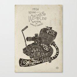 Hand lettering engine block Canvas Print