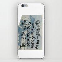 camus iPhone & iPod Skins featuring OH NO CAMUS AGAIN by Josh LaFayette