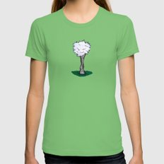 Goatfluff Womens Fitted Tee Grass SMALL