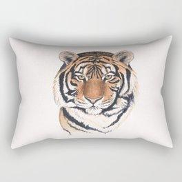 Tiger portrait watercolor Rectangular Pillow