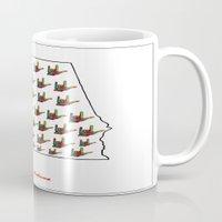 alabama Mugs featuring ASL - Alabama by EloiseArt