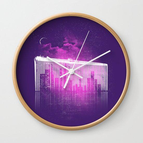 La Ville au Peigne Fin Wall Clock