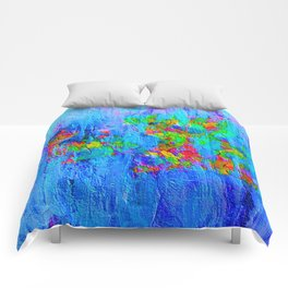 Blue Wash Jazzy Abstract Comforters