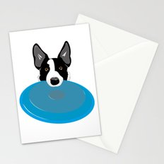 Border Collie - Disc Dog 2 Stationery Cards
