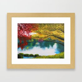 Lakeside in Autumn Framed Art Print