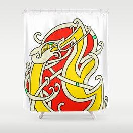 Viking Dragon of Infinite Warmth Shower Curtain