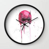 daredevil Wall Clocks featuring Daredevil by McCoy