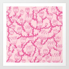 Pink Thorn Art Print