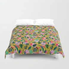 Cool summer in the mustard Duvet Cover