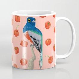 Brazilian Birds & Fruits - Blue-crowned trogon + brazilian cherries Coffee Mug