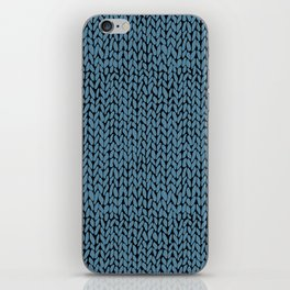 Hand Knit Niagra Blue iPhone Skin