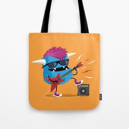 Monster punk rocks with his electric guitar Tote Bag