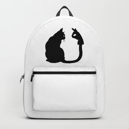 Chasing Shadows - Cat Tail Hand Shadow Puppet Surreal Fantasy Backpack