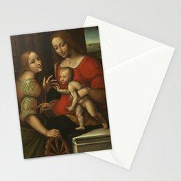 Giampietrino - The Mystic Marriage of Saint Catherine Stationery Cards