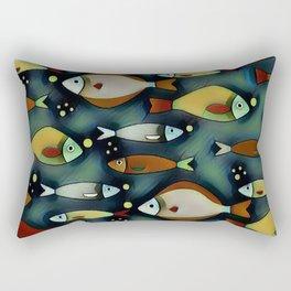 Fish Are Gonna Fish Rectangular Pillow