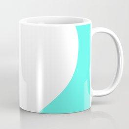 Heart (White & Turquoise) Coffee Mug
