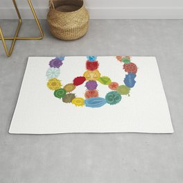 Peace Sign In Colors Rug