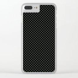 Black and Duffel Bag Polka Dots Clear iPhone Case