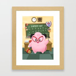 Listen Up! Clefairy Says Framed Art Print