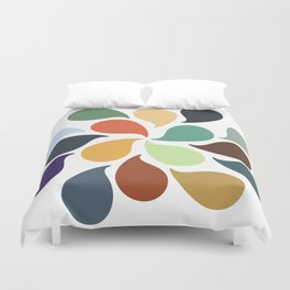 Colorful Water Drops Duvet Cover
