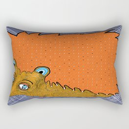 Big-Eyed Tiny-Footed Hedgehog Rectangular Pillow