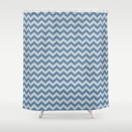 French Gray Morrocan Moods Chevrons Shower Curtain