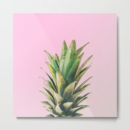 Pineapple Pink Metal Print